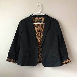 Dolce & Gabbana leopard print inner blazer